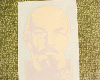 Vladimir Lenin heat press transfer iron on for t-shirts, sweatshirts