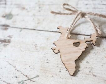 Ornament - I heart India Bamboo