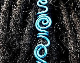 Freestyle Electric Blue Dread cuff