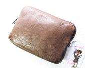 SALE Simple Brown Leather Belt Bag wear on left hip