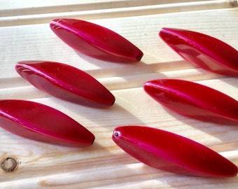 Rosy red vintage beads