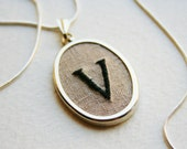 Reserved Initial necklace V