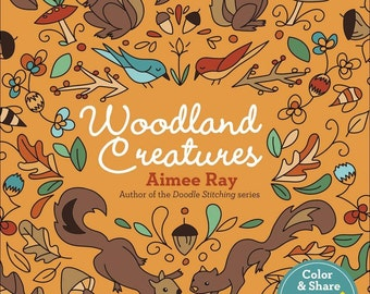 Woodland Creatures adult and kid coloring book by Aimee Ray