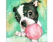 Custom Watercolor Pet Portrait on wood.