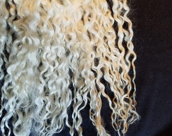 CRAZY Teeswater longwool locks 12+ inches tail spin doll hair dreadlockss embellishments #105