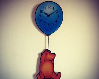 Winnie the Pooh 1980 Wooden Nursery Clock from Hoolala Vintage