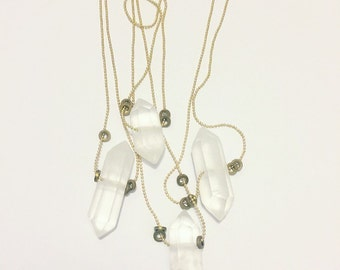 Pointed Quartz Crystal / Necklace / Gift / Metaphysical / Protection