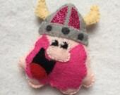 Valentines viking brooch