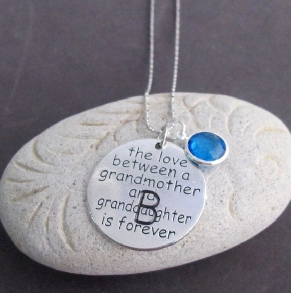 The Love Between a Grnadmother and Grandaughter is forever Customized Necklace,Grandma & Grandkid Jewelry,Grandmother Gift,Free Shipping USA