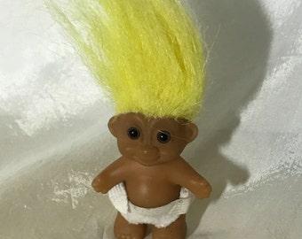 "Vintage Russ Troll Baby Doll Original doll 2"" tall"