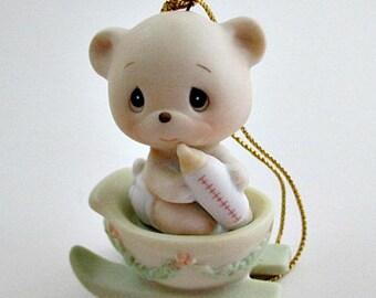1987 Precious Moments Bear the Good News of Christmas Ornament Figurine - Precious Moments Ornament Gift