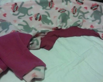 Greyhound Jammies. Medium - Pink Sock Monkey