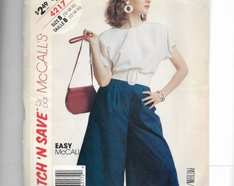 McCall's Misses' Culotte and Top Pattern 4217