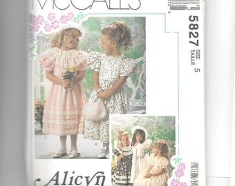 McCall's Children's and Girls' Dress Pattern 5827