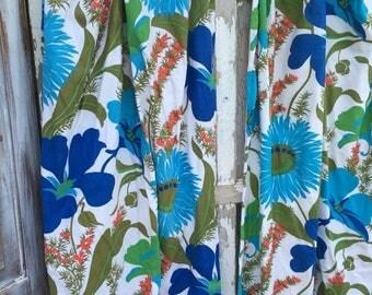 40% OFF- Vintage Floral Drapes-Garden Glory