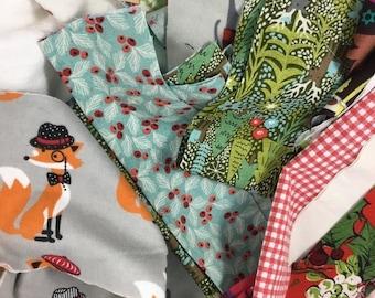 40% OFF- Christmas Fabric Scraps-Get Your Fix- Reclaimed Scrap Bundle-Stash Builder