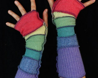 Arm Warmers - SMALL - 100% CASHMERE - made from upcycled sweaters