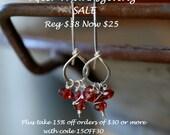 NEW Frolic Earrings - Handmade. Garnet. Sterling Silver