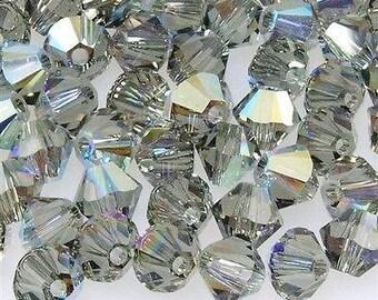 100 BLACK DIAMOND AB - 6mm Bicones - Price is Half Retail Averages
