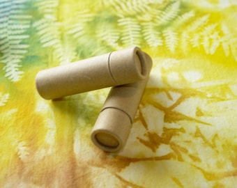 10 Cardboard Lip Balm Tubes - Eco Friendly, Biodegradable, Compostable & Sustainable