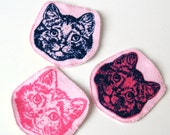 Set of 3, Pink Pussy Patch, Feminist Patch, Pussy Grabs Back, Pink Kitty Hat, Sew On Patch