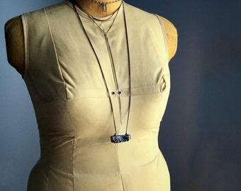 raw crystal necklace, quartz necklace, raw crystal necklace, long bohemian necklace, raw stone jewelry