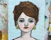 Oil painting portrait - Marcine - Original art