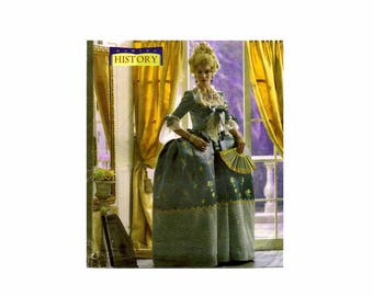 Misses 18th Century Court Dress Costume Butterick 4485 Sewing Pattern Size 6 - 8 - 10 - 12 or Size 14 - 16 - 18 - 20 Uncut