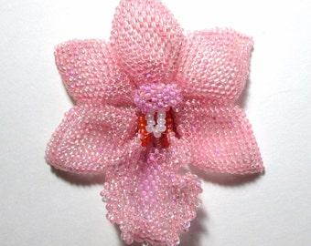 Pink Orchid Brooch Custom Order