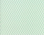 Coney Island - Zig Zag in Ocean Blue: sku 20284-13 cotton quilting fabric by Fig Tree and Co. for Moda Fabrics - 1 yard