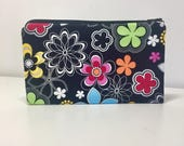 RESERVED LISTING - Flower Shower Black Coin Purse