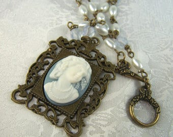 Vintage inspired Cameo and Pearls