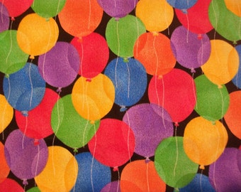 Bright Colorful Birthday Party Balloons - Cotton Fabric - BTY - Fabric Traditions