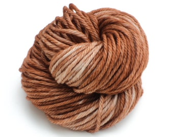 Suede, Hand Dyed, Hand Painted, Yarn, Bulky, Brown