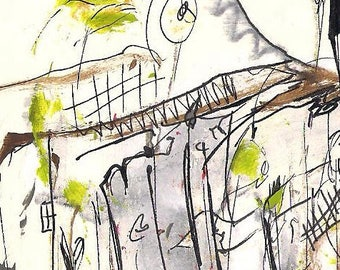 No. Z2, ACEO Art Cards Editions & Originals ATC Abstract Fantasy Scenic by NoRaHzArT