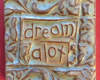Dream alot handmade earthenware tile by tilesmile