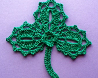 Lacy Shamrock  Ornament - hand crocheted