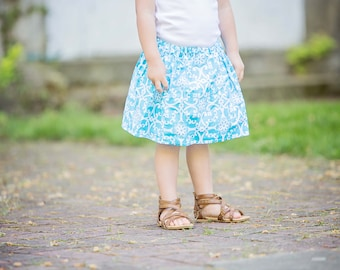 toddler girls skirts Blue Isle  skirt 2 T - 9 Y Boutique Childrens Clothing