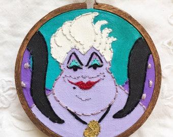 Embroidered Art Hoop - Disney Little Mermaid Ursula