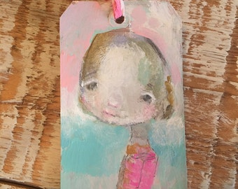 Bella Claire art tag - original 3x6