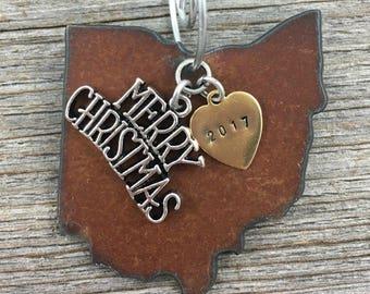 OHIO Christmas Ornament, OHIO Ornament, Christmas Gifts 2017 Christmas Ornaments, Personalized Gift, OHIO Ornaments