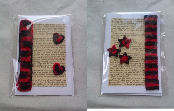 Bookmark Literary Greetings Cards - Little Women - Hearts and Stars
