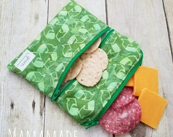 Recycle - Medium Reusable Sandwich Bag from green by mamamade