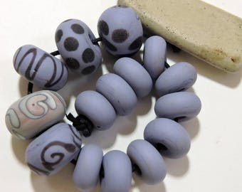 Lampwork Beads Lavender NATURALS Two Sisters Designs 041917A