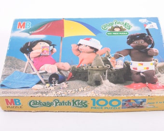 Cabbage Patch Kids 100 Piece Puzzle At The Beach Complete ~ The Pink Room ~ 161023