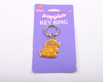 Popples Potato Chip Popple Vintage Keychain Old Store Deadstock Vintage Key Ring ~The Pink Room~ 161105