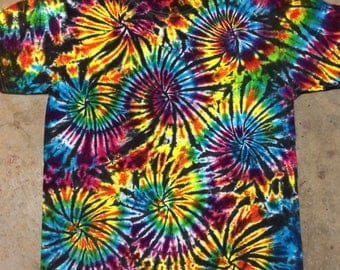tie dye shirt Black Fireworks CUSTOM MADE  tiedye tye die 5XL 4XL 3XL 2XL available