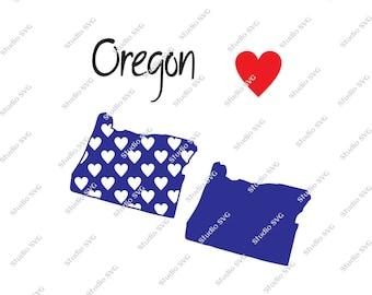 Oregon, Salem, Portland, Ducks, Eugene, Multnomah Falls, State, USA, Vector, SVG, Silhouette, Cricut, Cameo, Commercial Use, Personal Use