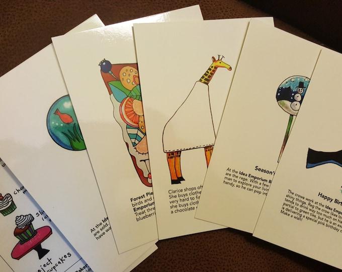 Featured listing image: Imaginative Whimsical Idea Emporium Postcard Set