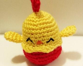 Crochet PDF Pattern - Golden Chicken